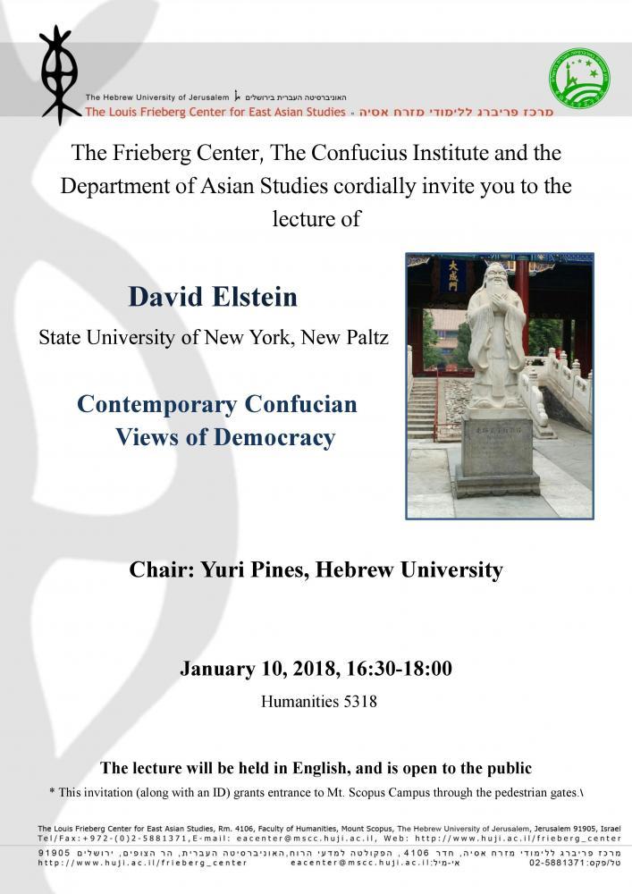 Contemporary Confucian Views of Democracy