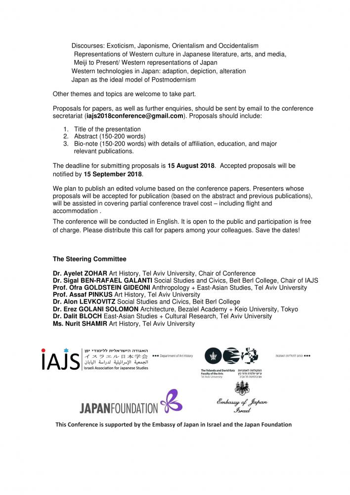 Japan-Europe conference, IAJS, Call for papers - updated-2